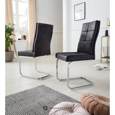 Ruda minkšta kėdė (lale)