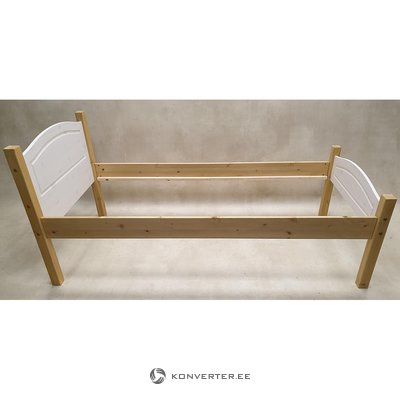 Brown-White Solid Wood Bed (emden) (90x200)