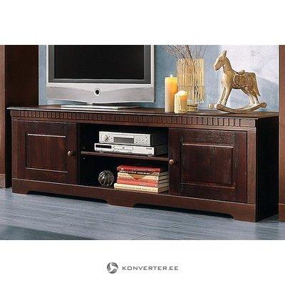 Dark brown solid wood tv closet
