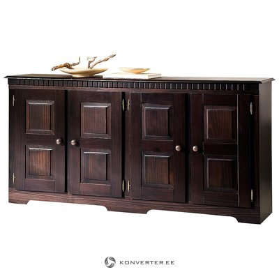 Dark brown wide chest of drawers