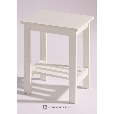 Mažas baltas kavos staliukas (madinga)