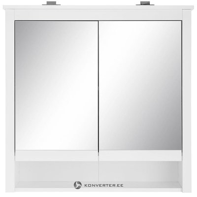 Wall cabinet with 2 mirror doors and led lighting (ole) (with beauty defects)
