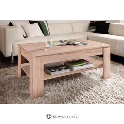 Rudas kavos staliukas su lentyna (trendteam) (visas, dėžutėje)