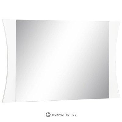 Balts spīdīgs plats spogulis (ar plankumiem) (kastē, ar plankumiem!)