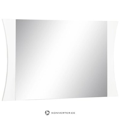 White high gloss wide mirror (with imperfections)