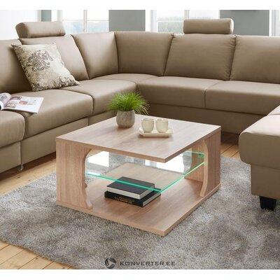 Šviesiai rudas sofos staliukas su led apšvietimu (raum.id) (dėžutėje, grožio trūkumų!)