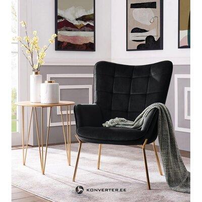 Melns mīksts samta krēsls (loue)
