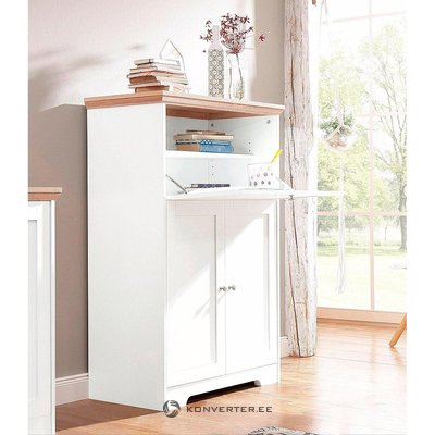 White solid wood cabinet-cabinet (nanna). (whole, in a box)