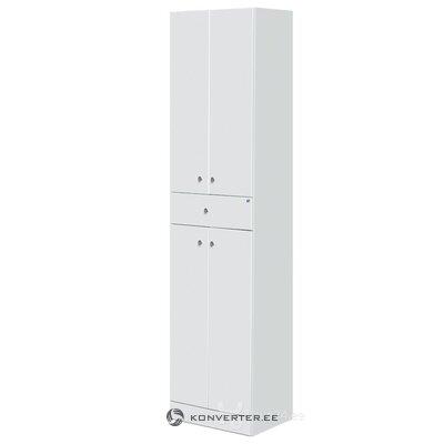 Белый глянцевый шкаф для ванной