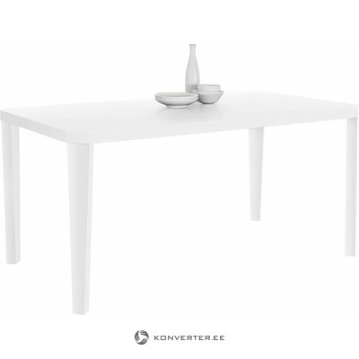 High White High Dining Table