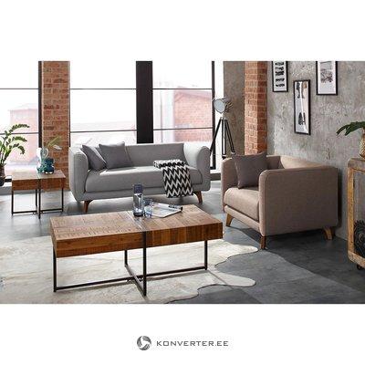 Ruskea-musta sohvapöytä (marilyn)