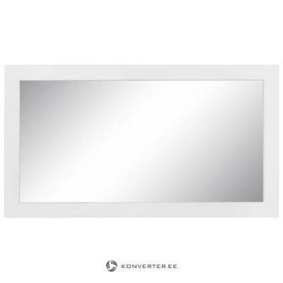 Белое широкое зеркало