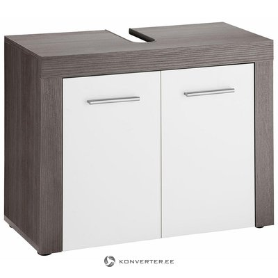 Gray and White Sink Cabinet (Miami) (Whole, Sample Room)