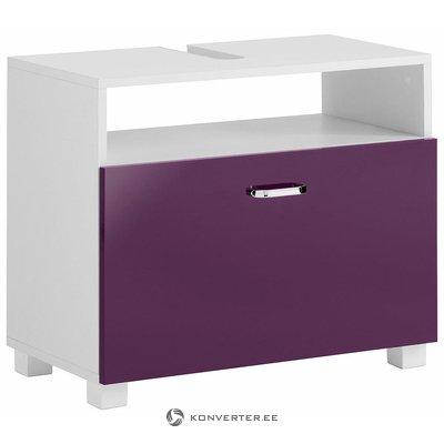 Violetti-valkoinen pesuallas laatikolla