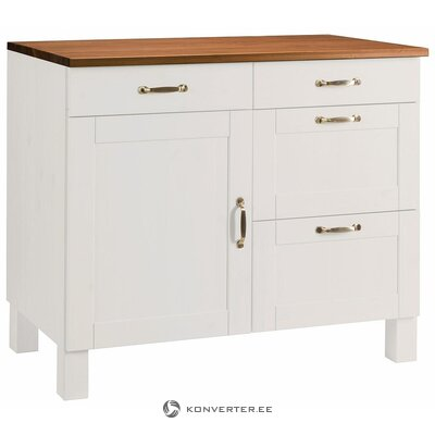 Brown and white kitchen cabinet (alby)