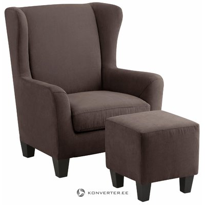 Spicy Armchair microfiber - brown