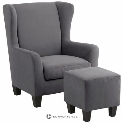 Spicy Armchair microfiber - grey