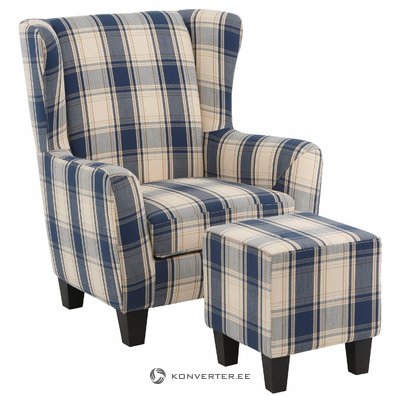 Spicy Armchair Fabric - blue