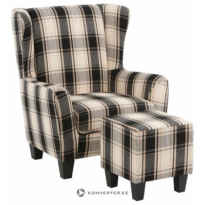 Spicy Armchair Fabric- black/grey