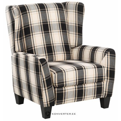 Aladdin Armchair Fabric - Black/Grey