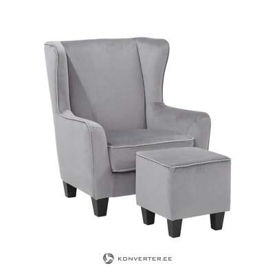 Pernia Armchair Velvet-Grey/light grey