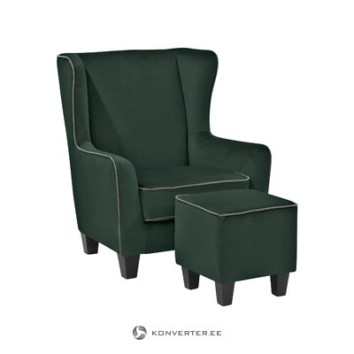 Pernia Armchair Velvet-Green/Grey