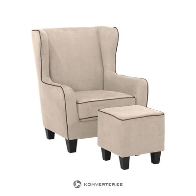 Pernia Armchair microfiber - Cream/Brown