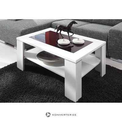 Glass Coffee Table (black & white, with defects, showcase)