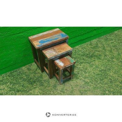 Ruskea Tabureti Set (3kpl)