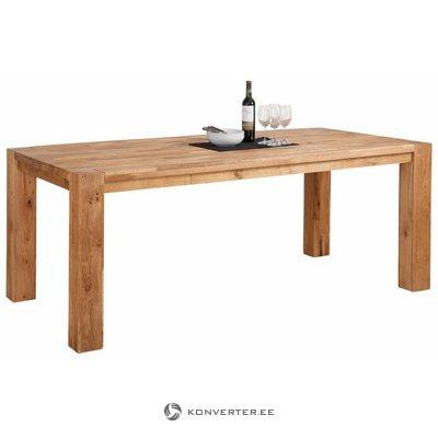 Liels, brūns pusdienu galds no ozola (platums 200 cm) (marianne) (vesels, kastē)