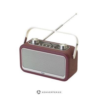 Nahkkattega lilla retro raadio Bush Classic Bluetoothiga (Probleem raadio signaaliga)