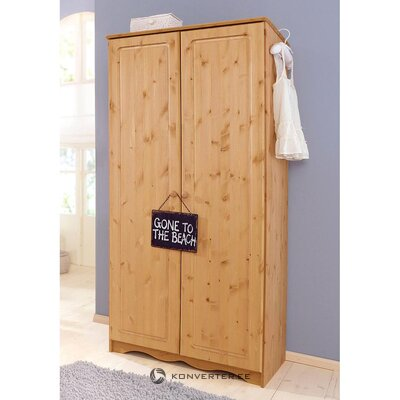 Light brown solid wood wardrobe (emden)