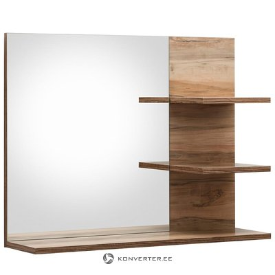 Brown wall mirror with shelf (cancun) (whole, specimen hall)