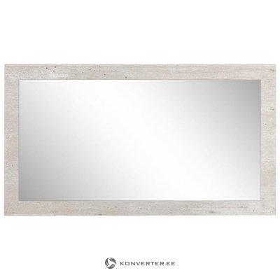 Светло-серое настенное зеркало (Лиссабон)