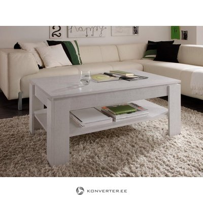 Gray coffee table with shelf (with strong beauty defects)