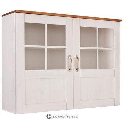 Бело-коричневый стенной шкаф с глазурью