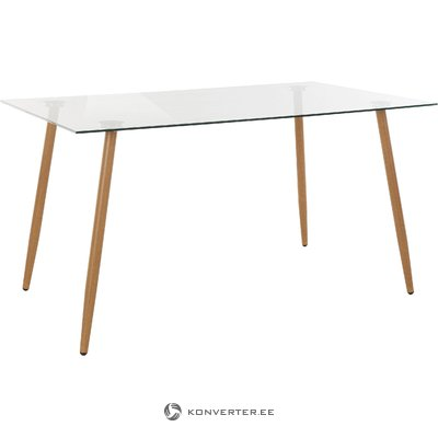 Mingu Dinning table 140- Glass/oak