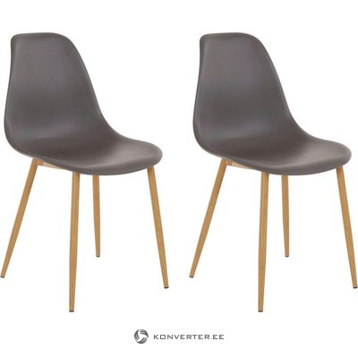 Mingu chair 2 pack - Anthracite Plastic