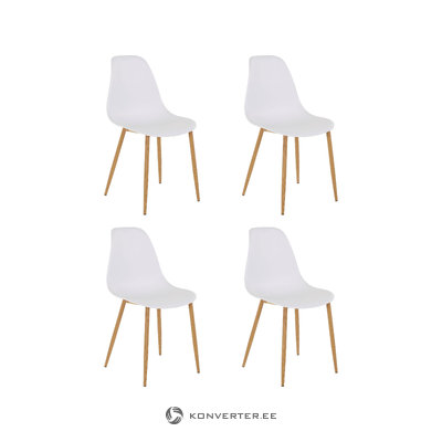 Mingu chair 4 pack - White Plastic
