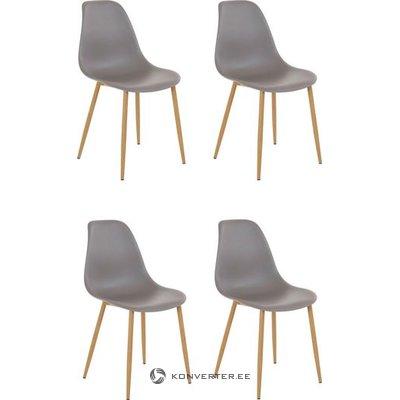 Mingu chair 4 pack - Light Grey Plastic