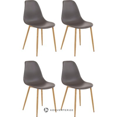 Mingu chair 4 pack - Anthracite Plastic