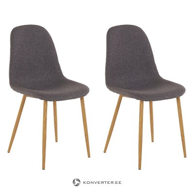 Mingu chair 2 pack - Anthracite Fabric
