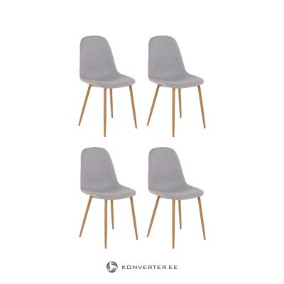 Mingu chair 4 pack - Light Grey Fabric