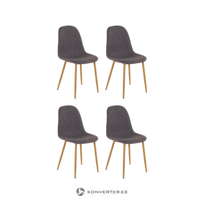 Mingu chair 4 pack - Anthracite Fabric