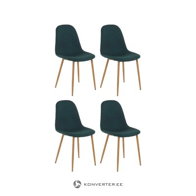 Mingu chair 4 pack - Green Fabric