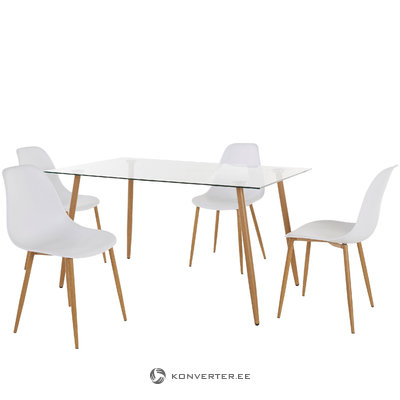 Mingu set 140 table - White Plastic
