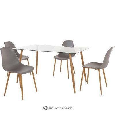 Mingu set 140 table - Light Grey Plastic
