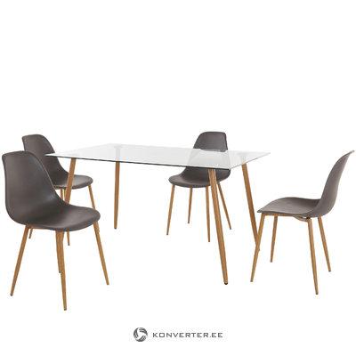 Mingu set 140 table - Anthracite Plastic
