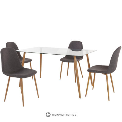 Mingu set 140 table -Anthracite Fabric