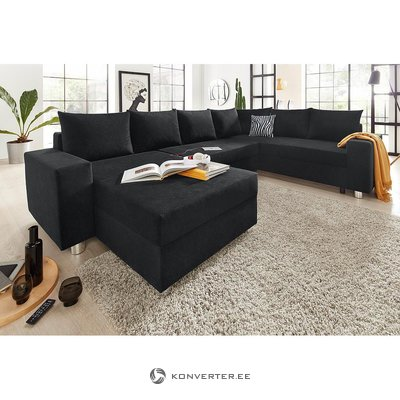 Black corner sofa (whole, in box)